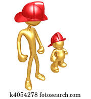 Wannabe With Gold Guy Fireman