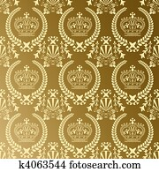 Abstract gold crown pattern