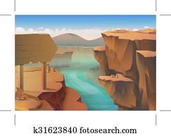 Canyon nature background