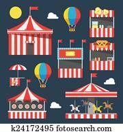 Flat design of carnival festival