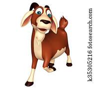 fun Goat funny cartoon character