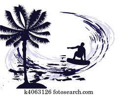 sommerzeit, -, surfen