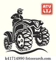 ATV All-terrain vehicle off-road design elements.