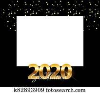 Class of 2020 Graduarion Education Background. concept. Illustration