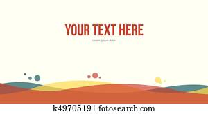 Abstract header website simple colorful