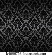 Damask seamless wallpaper