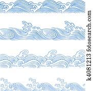 ocean wave set