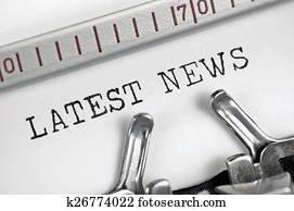 Typewriter detailed macro closeup typing text Latest News, large