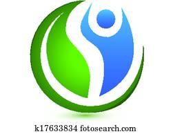 Vector of wellness concept logo