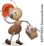 Carpenter ant in the helmet
