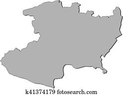 Michoacan State Map.Michoacan State Clipart Illustrations 14 Michoacan State Clip Art