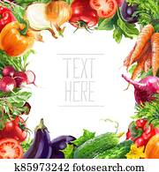 Vegetable set. Pepper, beetroot, tomato, eggplant, blob. Harvest and Thanksgiving fruit of nature, food collection for restaurants, menus, posters and grocery bags. Graphics and color