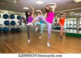 zumba, klasse, tanzen, in, studio