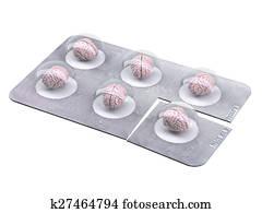brain pills in blister