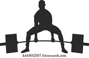 powerlifter exercise barbell
