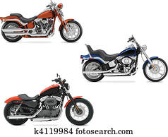 Three vector illustrations of moto