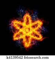 Fiery atom.