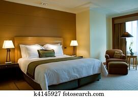 Bedroom of a elegant 5 star hotel