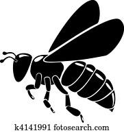 black bee silhouette