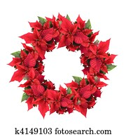 christmas wreath from poinsettia