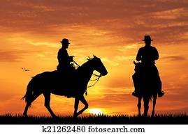 cowboys on horse