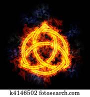 Fiery Celtic Knot.