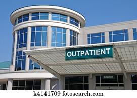 Hospital Outpatient Entrance Sign