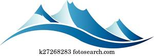 Mountains logo image.