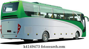 Tourist bus. Coach. Vector