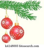 clipart christbaumkugeln kugeln auf rot k9632821. Black Bedroom Furniture Sets. Home Design Ideas
