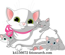 White Cats family