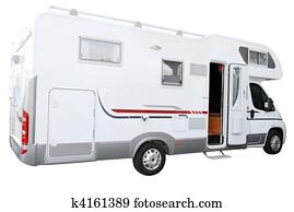 white rv truck