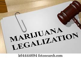 MARIJUANA LEGALIZATION concept