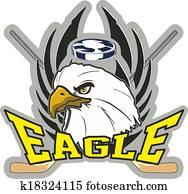 Hockey eagle