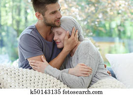 Marriage fighting with cancer together