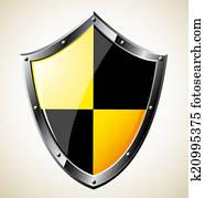 Steel glossy shield