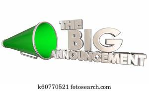 The Big Announcement News Update Bullhorn Megaphone 3d Illustration