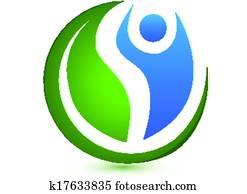 wellnessbereich, begriff, logo