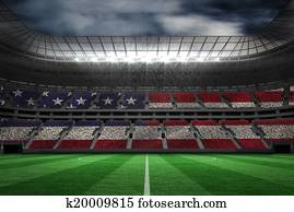 Composite image of digitally generated american national flag