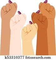 International Woman Diversity Fist
