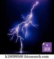 Vector Lightning Effect