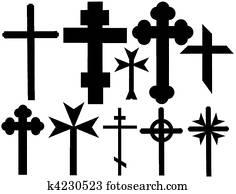 Christian crosses