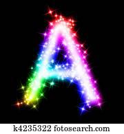 colorful alphabet letter - A