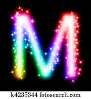 colorful alphabet letter - M