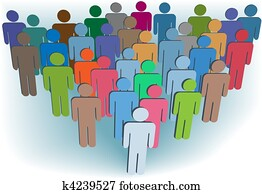 Group company or population symbol people colors