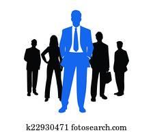 mitarbeitergruppe, silhouette