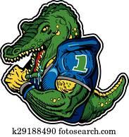 alligator football player