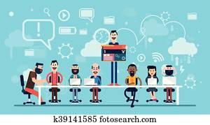 Businesspeople Web Designer Team Working Workplace