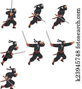 Cartoon Ninja Sprite