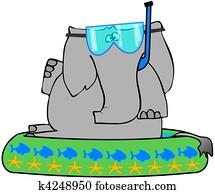 Elephant In A Kiddie Pool